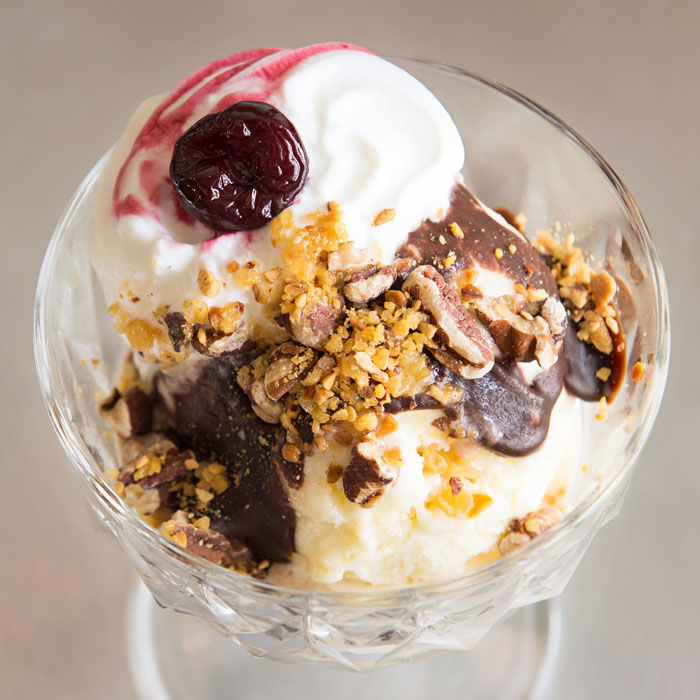 Fat Cat Creamery Ice Cream Sundae - Houston, Texas - Heights & Garden Oaks